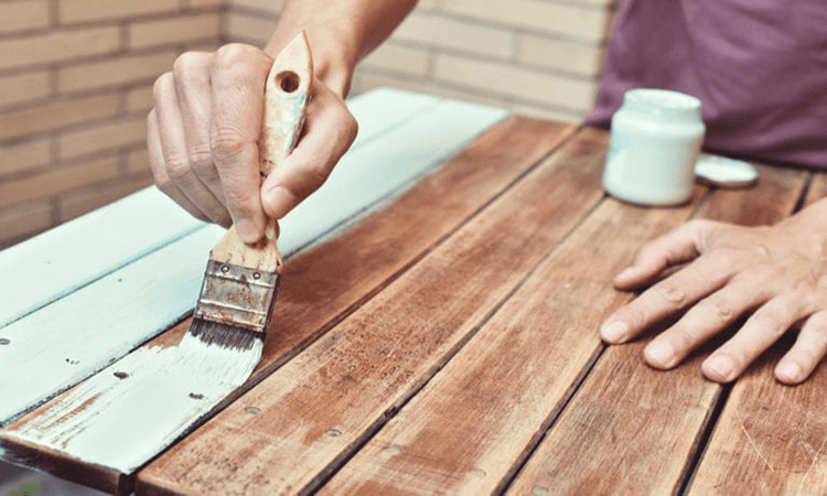 How To Paint Raw Wood Furniture What Paint To Use On Raw Wood